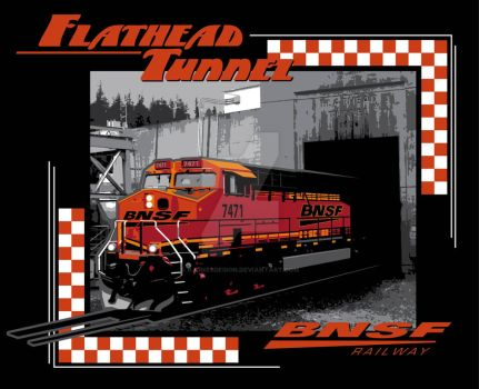 BNSF Flathead Tunnel Train by rjonesdesign