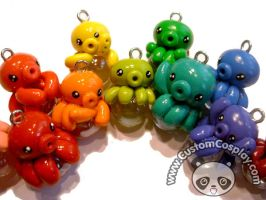 Kawaii octopi charm rainbow by The-Cute-Storm