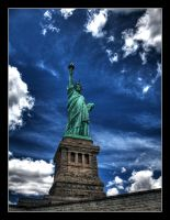 Miss Liberty in the Clouds by xnoux