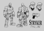Stryker Character Sheet Lines by ZipDraw