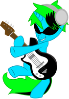 Bass Treble Rocks Out by ThatFatBrony