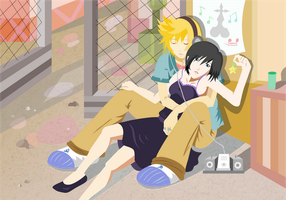 roxas and xion by rainELL