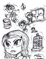 Doctor Who Sketch Dump by Delirium-Syndrome