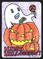 Happy Halloween ACEO 45 by Siobhan68