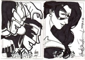 Bayan Knights Sketch Cards by wrathofkhan