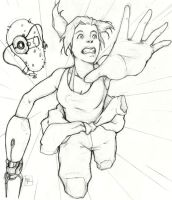 'Portal 2: the Fall' fanart cover sketch by yooweebaloowee