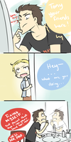 Tony's Beard Part 1 by blargberries
