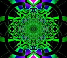Funky Green with black and Pur by JanetAteHer