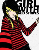 Girl with red stripes by galvanicprince