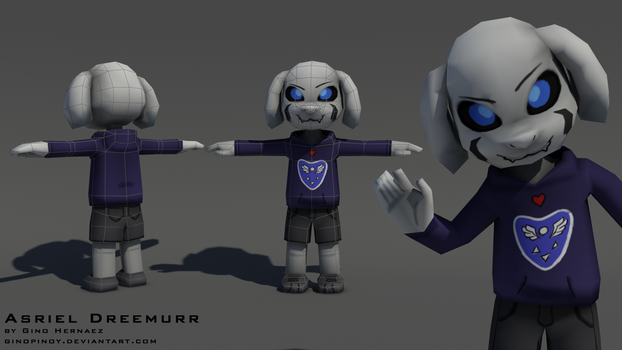 Asriel Dreemurr low poly by GinoPinoy