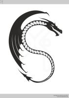 Wyvern backprint by xistenceimaginations