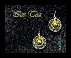 Ice Tea earrings small by IMNIUM
