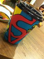 side of view of superman card by CNsArto