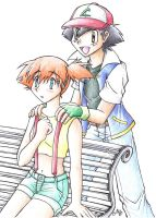 Ash + Misty Forever X3 by cowgirlem