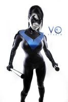 Lady Nightwing Cosplay Batman Arkham City DC by VampBeauty