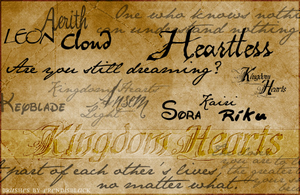 Kingdom Hearts-Random Brushes by ErendisBlack