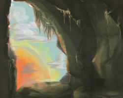 Cave Concept by Charredsky
