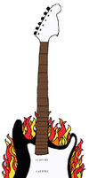 Flaming Guitar by TheDisappearingGirl