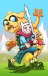 Jake The Dog and Finn The Human by cruzarte