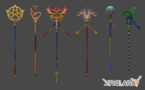 Final Fantasy X - Yuna's Rods by xHolyxLightx