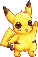 CUTE Pikachu by dragowlfly