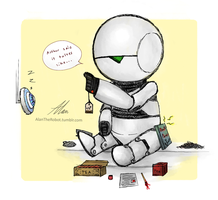 Marvin, Eddie, and Tea by AlanTheRobot