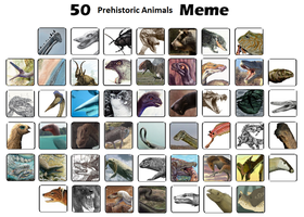 50 Prehistoric Animals Meme by Tyrannotitan333