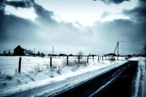 A Snowy Road by doomed-forever