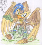 Dart the Gryphon by KissTheThunder