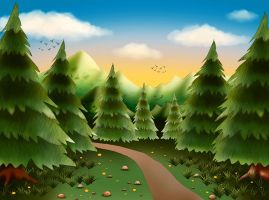 Just painted forest by Korolevatumana