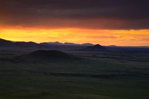 Monsoon Sunset by Rhavethstine