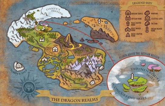 The Dragon Realms Map by weremagnus