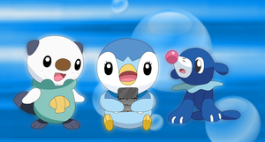 Watching Piplup playing by Cansin13Art