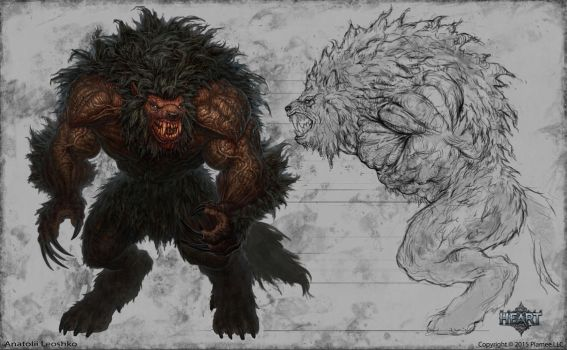 werewolf alpha male by KhezuG