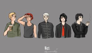 a lot of gerards by BlackPandah