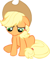 Sad Applejack by Perinigricon