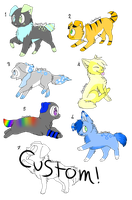 Puppy/Dog adopts! {3 LEFT} by Iris-ofawesomeadopts
