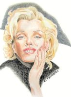 Marilyn Monroe In Black by eyeqandy