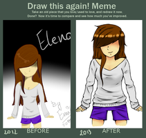 Draw this again meme :3 by Emilly-chan