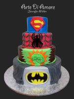 Super Hero Cake by ArteDiAmore