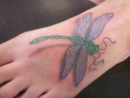 Dragonfly Foot by kayden7