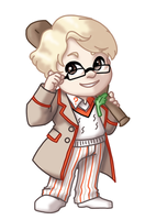 Chibi 5th Doctor by TwinEnigma