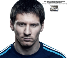 Lionel Messi Face Render by Shindydesigns