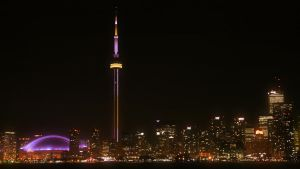 Garish Toronto Skyline by vmulligan