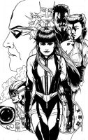 Silk Spectre - Watchmen inks by Maxahiss