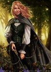 Commission - Elven Archer by jodeee