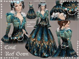Coral Reef Gown by Elvina-Ewing
