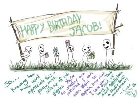 Jacob b-day card by genusarcturus