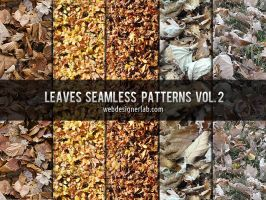 Leaves Seamless Patterns Vol. 2 by xara24