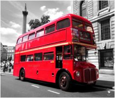 London: Red Bus by Pixie-Arts